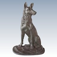 Handsome Alsatian/German Shepherd Dog Doorstop Vintage