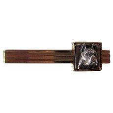 Vintage Sterling Boxer Dog Tie Clip/Bar