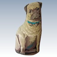 "14"" Ragdoll Pug Dog Doorstop Toy Works Retired"