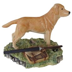 Handsome Border Fine Arts Scotland Yellow Labrador Dog Vintage