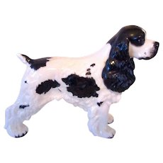 Liver Signed Boehm Porcelain Cocker Spaniel Dog Vintage
