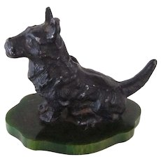 Bakelite/Metal Pencil Holder Scotty Dog Vintage