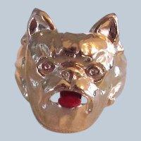 Vintage Gumball Machine Prize Ring French Bulldog