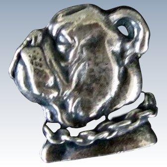 Vintage 800 Silver Bulldog Brooch/Pin