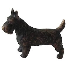 Solid Bronze Miniature Scotty Dog Austrian