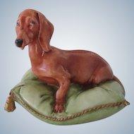 Vintage Capodimonte Italy Dachshund Dog