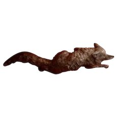 Miniature Vienna Bronze Fox Vintage
