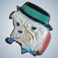Enamel Dapper English Bulldog Pin/Brooch Vintage