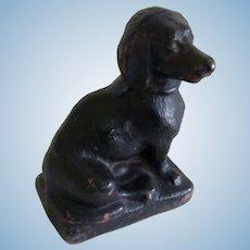 Antique Composition Dachshund Dog Miniature