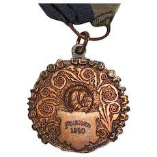 Antique Bulldog Club Of American Ribbon Medal