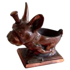 Ronson Striker French Bulldog/Boston Terrier Vintage Lighter