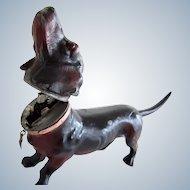 Rare Antique Mechanical Dachshund Dog Lighter Austria