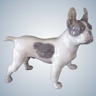 Royal Copenhagen French Bulldog/Boston Terrier Dog No. 1457 Vintage