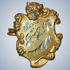 Victorian Dog Brooch Bulldog Boxer C-Clasp Antique