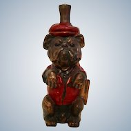 Ronson Striker Lighter Dressed and Painted Bulldog Vintage