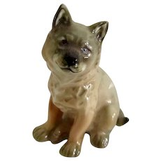 Porcelain Miniature Coyote Dog By Hutschenreuther Vintage