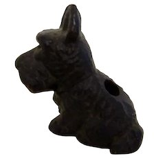 Cast Iron Pencil Holder Scotty Dog Paperweight Vintage