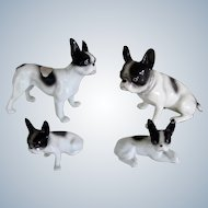Set Of 4 French Bulldog/Boston Terrier Dogs Erphila Germany