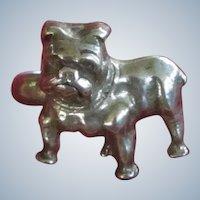 Vintage Baby Child's Ring Sterling Silver Bulldog Dog