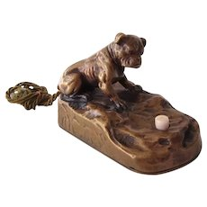 Bronze Ringer/Servant Bell English Bulldog Antique Dog