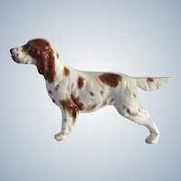 Rare Gort China English Setter Dog Vintage
