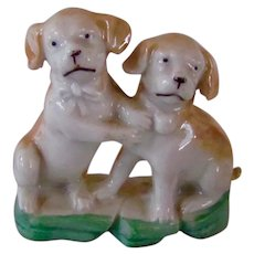 Vintage Lustreware Pair Pug Dogs Germany