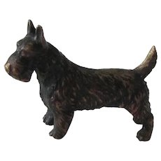 Solid Bronze Miniature Scotty Dog Austrian Vintage