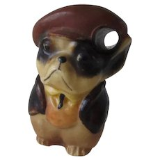 Antique Celluloid Pencil Holder French Bulldog/Boston Terrier Dog
