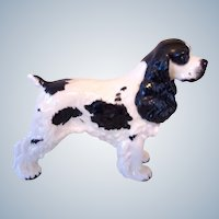Signed Boehm Vintage Liver Porcelain Cocker Spaniel Dog