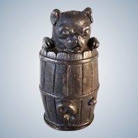 Victorian Pounce Pot Shaker Pug Dog Rogers