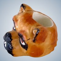 Austria Match Holder Striker Bulldog/Pug Dog Antique