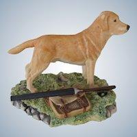 Handsome Signed Border Fine Arts Scotland Yellow Labrador Dog Vintage