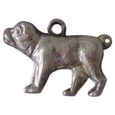 Vintage Sterling Silver Puffy Pug Dog Charm