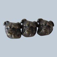 Victorian Large Brooch/Pin Three Bulldogs Antique