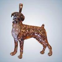 Lovely Gold Over Sterling Boxer Dog Pendant Vintage