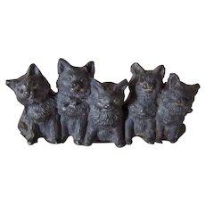 Victorian Cast Metal Cats/Kittens Antique