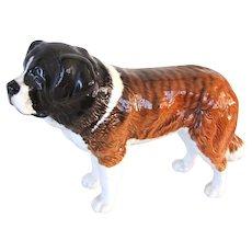 Large Beswick England St. Bernard Dog Vintage