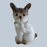 Vintage Germany French Bulldog Dog Wearing Bow
