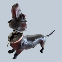Rare Antique Mechanical Dachshund Dog Lighter Austria