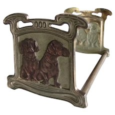 Rare Antique Judd Dachshund Dogs Expanding Bookends