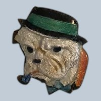 Enamel Dapper English Bulldog Pin/Brooch Vintage