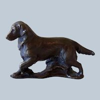 Solid Bronze Miniature Golden Retriever Dog Signed Ltd. Edition