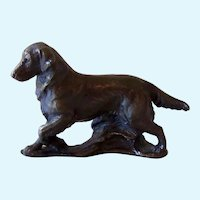 Solid Bronze Miniature Golden Retriever Dog Signed Ltd. Edition
