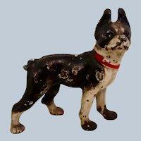 Hubley Cast Iron Boston Terrier Dog Paperweight Vintage