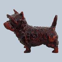 Miniature Cairn Terrier Dog Vintage OAK