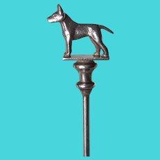 Vintage Sterling Bull Terrier Dog Spoon English Hallmarks C. 1938