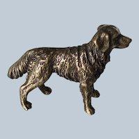 Miniature Solid Bronze Golden Retriever Dog