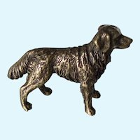 Miniature Solid Bronze Golden Retriever Dog