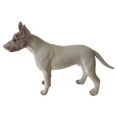 Handsome Solid Lead Bull Terrier Dog Vintage 3 Inches