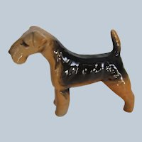 Vintage Beswick England Airedale Terrier Dog #2448